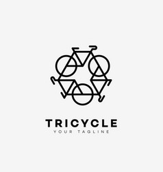 tricycle logo vector image