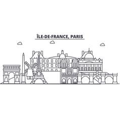 france paris architecture line skyline vector image