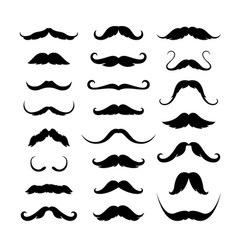 mustaches icons set vector image vector image