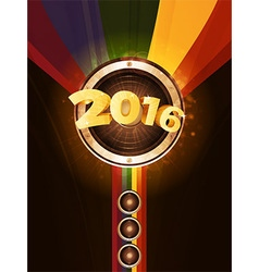 New Years party 2016 background vector image vector image