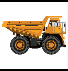 powerful mining truck vector image vector image