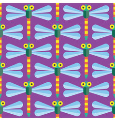 Seamless Dragonfly pattern icon Insect vector image vector image