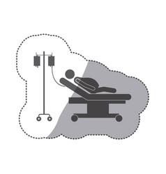 sticker monochrome pictogram pregnant woman vector image