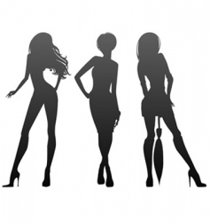 three girls vector image