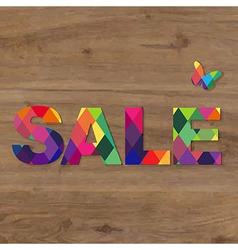 Wooden Background With Sale Text vector image vector image