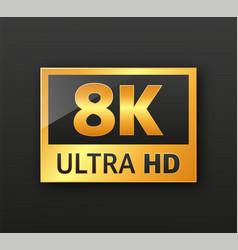 4k ultrahd 2k quadhd 1080 fullhd and 720 hd vector
