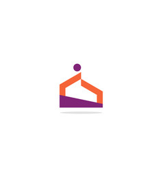 Abstract architecture building logo vector