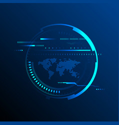 abstract technology modern futuristic background vector image