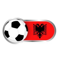 albania soccer icon vector image