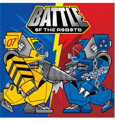 Background with the of battles robots theme vector