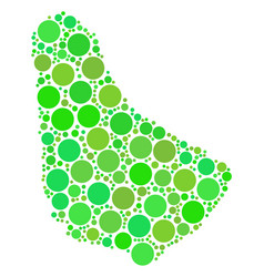 Barbados map mosaic of circles vector