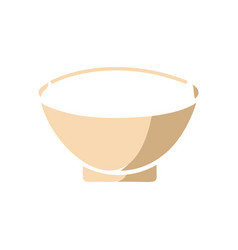 bowl icon template isolated vector image