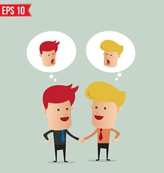 Business man hand shake - - EPS10 vector