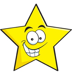 Cartoon smiling star vector image