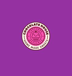 chocolate house logo cafe vector image