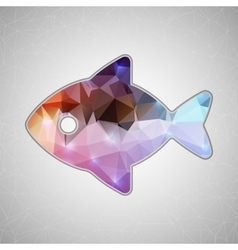 Creative concept fish icon isolated on vector