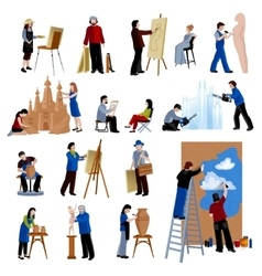 Creative Profession People Icons Set vector image