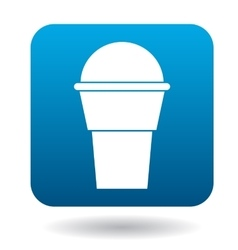 Cup of ice-cream icon simple style vector