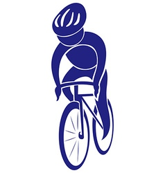 Cycling icon in blue color vector