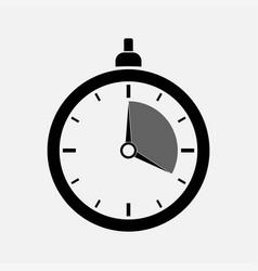 dark icon stopwatch timer editable vector image