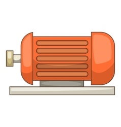 Electric motor icon cartoon style vector