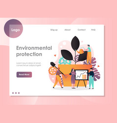 environmental protection website landing vector image