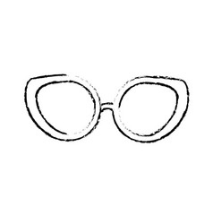 Figure glasses to use in the eyes vector