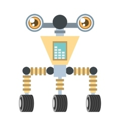 Futuristic robot circuit electrical vector