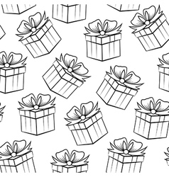 gift black pattern vector image