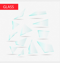 Glass pieces transparent glass vector