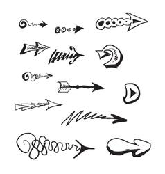 Hand draw arrows set vector image