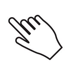 Hand pointing with index finger icon vector