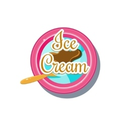 Ice cream logo vector