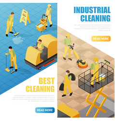Industrial cleaning banners vector