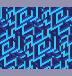 Isometric labirynth pattern vector