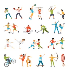 Kids Sport Icons Set vector image