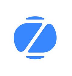 letter z logo modern blue font icon vector image