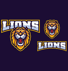 Lion mascot logo vector