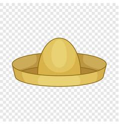 Mexican hat sombrero icon cartoon style vector