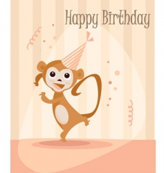 monkey birthday vector image