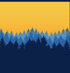 natural forest background tree silhouette vector image