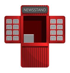 Newspaper kiosk icon cartoon style vector