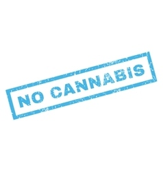 No Cannabis Rubber Stamp vector image