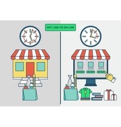 Online shopping advantages vector