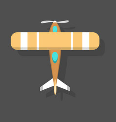 orange airplane top view and vector image