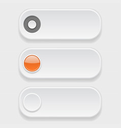 oval white buttons with tags vector image