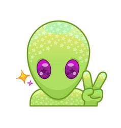 Peace alien vector