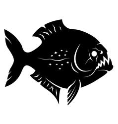 Piranha sign vector image vector image