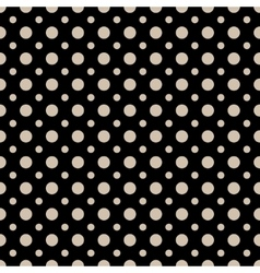 Polka dot beige seamless pattern vector image