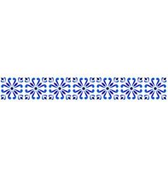 porcelain seamless borders vector image